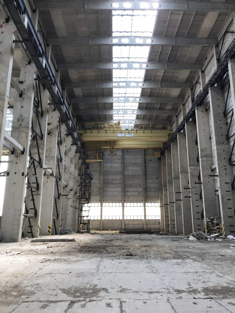 Werkhalle im ehemaligen AKW Arneburg